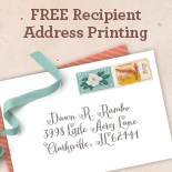 FREE Recipient Address Printing
