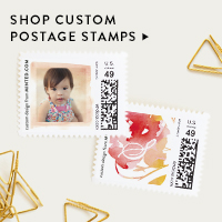 Paperie Nav Ad: Custom Postage Stamps