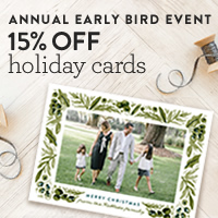 Holiday Photo Cards Early Bird